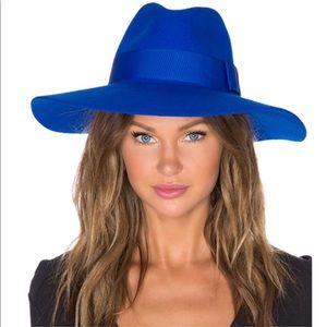Brixton Piper Floppy Wool Hat Royal Blue Medium